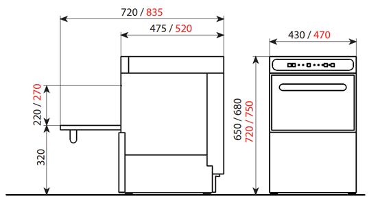 6644 La Lavavajillas Industrial EASY-400 de la Serie EASY WASH ha sido diseñada para lavar, desengrasar, desinfectar y abrillantar vasos y platos con gran facilidad. El panel de control electromecánico proporciona un programa de lavado de sólo 120 segundos, pero suficiente para garantizar una eficaz limpieza de la mayor suciedad. Estos lavavajillas están diseñados para cestas de 400mmx400mm, para lavar una amplia variedad de vasos y platos. Especialmente diseñados para el uso en bares, pubs, restaurantes, etc. Accesorios suministrados: 2 cesta 400x400 mm 1 soporte para varilla y 1 cubilete para cubiertos CU. Producción cestas/hora: 30 Ver más Lavavajillas Aquí