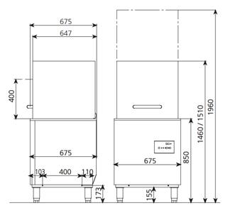 6648 La Lavavajillas Industrial EASY-H500 de Capota Serie EASY WASH ha sido diseñada para lavar, desengrasar, desinfectar y abrillantar vasos y platos con gran facilidad. El panel de control electromecánico proporciona un programa de lavado de sólo 120 segundos. Gracias a esto le garantiza una eficaz limpieza de la mayor suciedad. La Lavavajillas Industrial EASY-H500 de Capota está diseñada para cestas de 50x50cm. Con espacio libre de 42cm. Por lo tanto le permite lavar una amplia variedad de vasos y platos. Especialmente diseñados para el uso en bares, pubs, restaurantes, hoteles y banquetes. Accesorios suministrados: 1 Cesta CP-16/18, 1 Cesta CT-10 y 1 Cubilete para cubiertos CU-7. Producción Cestas/Hora: 40 Ver más Lavavajillas Aquí